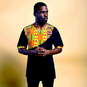 LUVKY AFRICAN KENTE PRINT MEN'S SHIRT