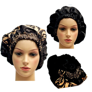 Glass Slippers Satin-Lined Hair Bonnet - Zabba Designs African Clothing Store