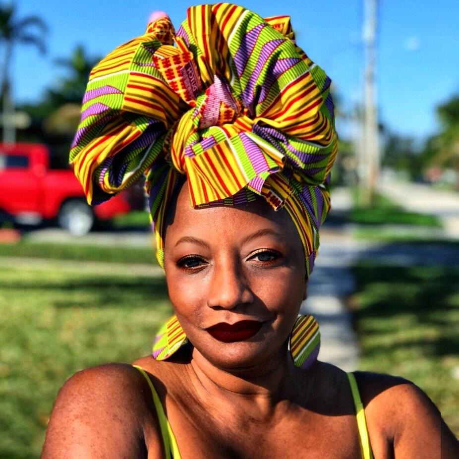 The MLK African Print  HeadWrap - Zabba Designs African Clothing Store