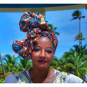 MARIGOLD African  Print Headwrap - Zabba Designs African Clothing Store