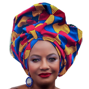 Adisa African Print HeadWrap - Zabba Designs African Clothing Store