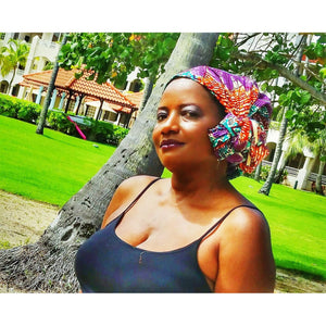 Samba Traditional Print Headwrap