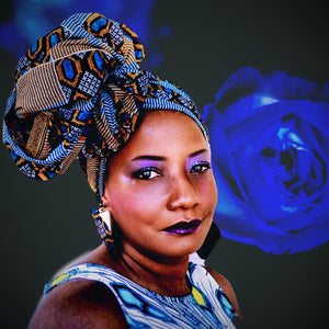 African Print Sumire Headwrap - Zabba Designs African Clothing Store