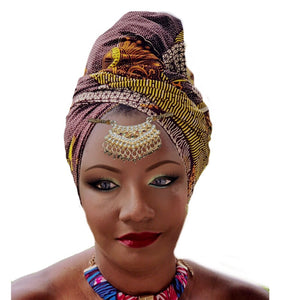 Sakurasou Traditional Print Headwrap - Zabba Designs African Clothing Store