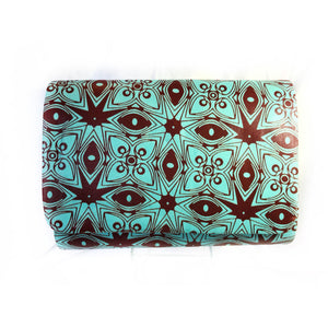 Brown And Orange African  Ankara Fabric Formal Clutch - Zabba Designs African Clothing Store