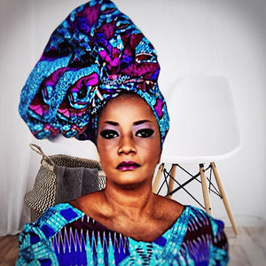 FEMI Traditional Print Headwrap - Zabba Designs African Clothing Store