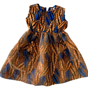 Princess Kou African Print Girl  Dress - Zabba Designs African Clothing Store