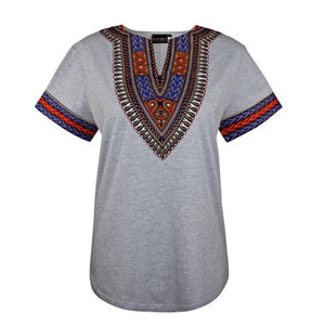 GRAY AFRICAN DASHIKI MEN'S SHIRT - Zabba Designs African Clothing Store