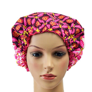Pink Adult Ankara Bonnet - Zabba Designs African Clothing Store
