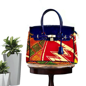 Multicolor Traditional African  Print Woman's Bag - Zabba Designs African Clothing Store