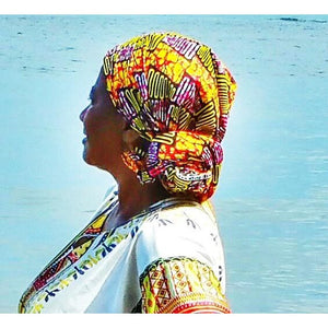 Cape Ankara Print HeadWrap - Zabba Designs African Clothing Store