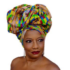 GAMBIA African Headwrap - Zabba Designs African Clothing Store