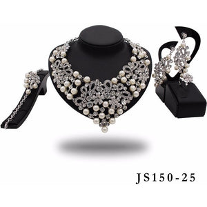 SOTHO CRYSTAL STONE NECKLACE SET - Zabba Designs African Clothing Store