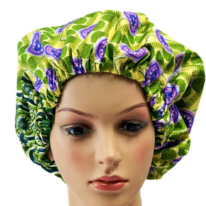 Green Candy Apple Adult Ankara Bonnet - Zabba Designs African Clothing Store