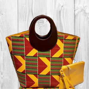SISSY Kente African Fashion Tote Bag - Zabba Designs African Clothing Store