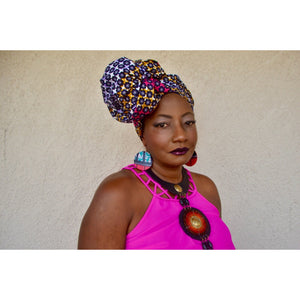Morgan African Print HeadWrap - Zabba Designs African Clothing Store