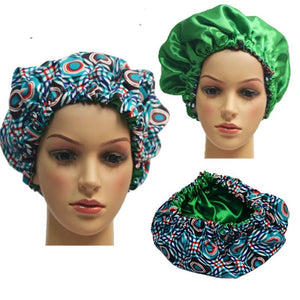 Slay Multi Color Adult Ankara Bonnet - Zabba Designs African Clothing Store