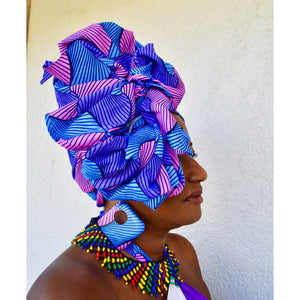 Fuji African Print HeadWrap - Zabba Designs African Clothing Store