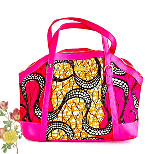 Kwasi African  Designer Bag With Leather Straps - Zabba Designs African Clothing Store
