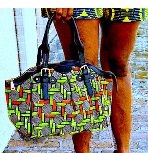 Eboo Trendy Green African Handbag - Zabba Designs African Clothing Store