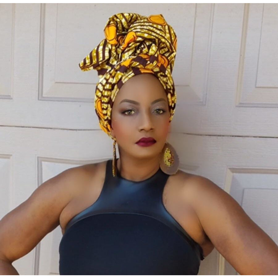 Massa African Print Head Wrap