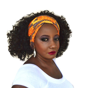 Coco ASA Kente Print Head Wrap - Zabba Designs African Clothing Store