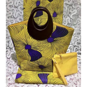 Mozart Fashion African Print Hobo Bag with Wallet - Zabba Designs African Clothing Store