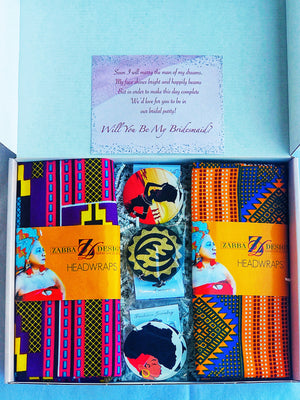 MIAMI African Print Head Wrap And Earring Set