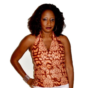 Brownie African Halter Blouse - Zabba Designs African Clothing Store