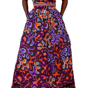 The Sassy African Print Maxi Skirt - Zabba Designs African Clothing Store