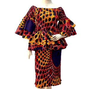 Miss Jade African Print Two Piece Midi Skirt Set - Zabba Designs African Clothing Store