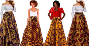 Wynn African Inspired Maxi Skirt - Zabba Designs African Clothing Store