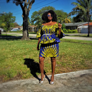 African Inspired Dress Made The Cut - Zabba Designs African Clothing Store