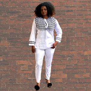 Beta African Wedding Couples Pants Set - Zabba Designs African Clothing Store