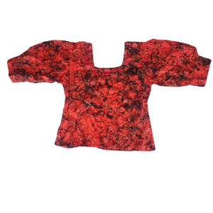Awia African Inspired Tie Dye  Reddish Black Boho Top - Zabba Designs African Clothing Store