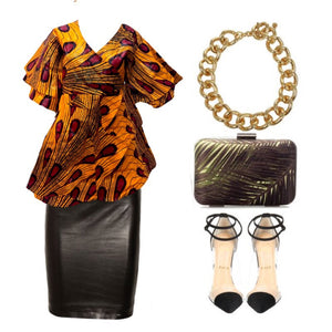 Soca African Wrap Blouse - Zabba Designs African Clothing Store