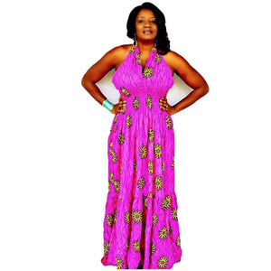 CUTIE African Print Maxi Dress - Zabba Designs African Clothing Store