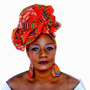 BLUSHING BEAUTY HEADWRAP BOX - Zabba Designs African Clothing Store