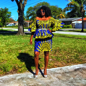African Print Dress Set Made The Cut - Zabba Designs African Clothing Store