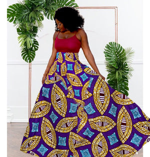 Passion African Print Maxi Skirt - Zabba Designs African Clothing Store