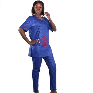 Dimeji African Inspired Woman Pants Set - Zabba Designs African Clothing Store