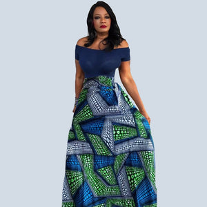 LILLY African Print Maxi Skirt - Zabba Designs African Clothing Store
