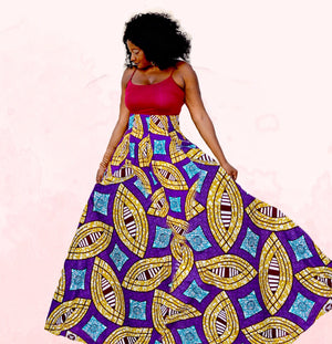 Passion African Print Maxi Skirt