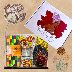 WINNERS African Head Wrap, Bonnet And Earring Set