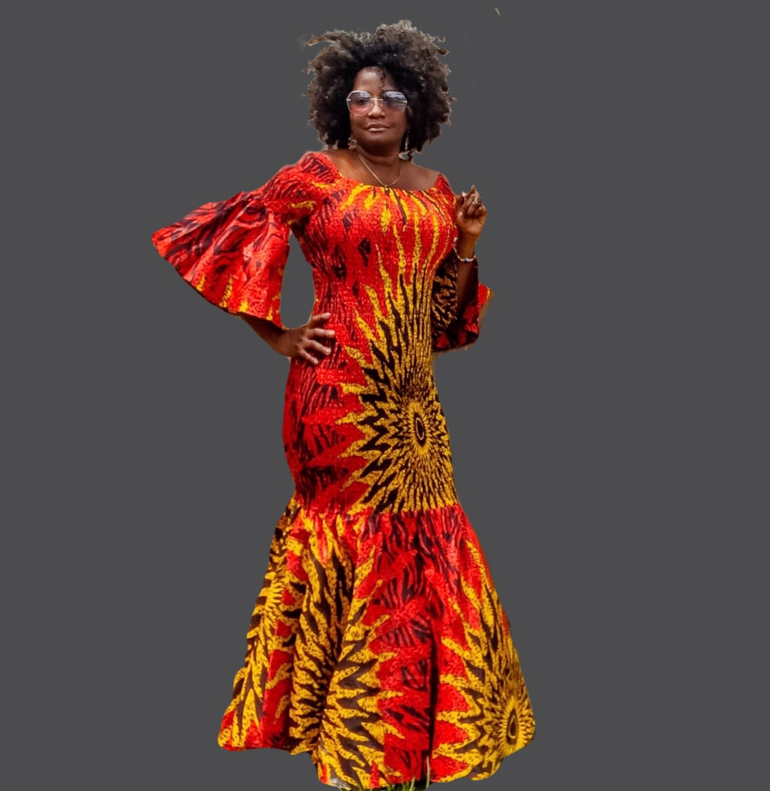 962390726d71e Angie Red African Print Maxi Dress - Zabba Designs African Clothing Store