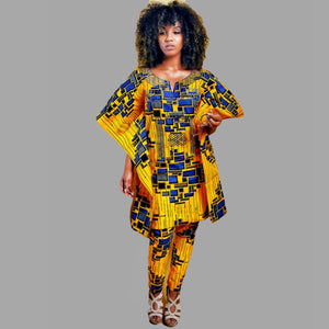 Fiery Traditional African Woman Pants Set - Zabba Designs African Clothing Store