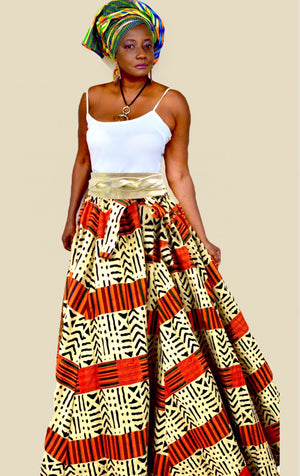 Lolata African Print Maxi Skirt - Zabba Designs African Clothing Store