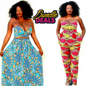 Sama African Print Bundle Set - Zabba Designs African Clothing Store