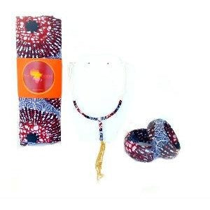 Oska HeadWrap And Jewelry Set - Zabba Designs African Clothing Store