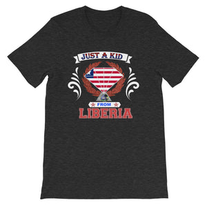 Just A Kid From Liberia T-Shirt - Zabba Designs African Clothing Store